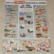 Juegos construcción - Tente: CATALOGO TENTE POR RUTA MAR Y ASTRO. Lote 156773078