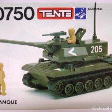 Juegos construcción - Tente: TENTE INSTRUCCIONES TANQUE TENTE SCORPION REF 0750 ¡¡NUEVAS!!ORIGINALES AÑOS 80. Lote 159692606