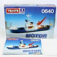 Juegos construcción - Tente: TENTE MAR MOTOR - 0640 - BUQUE POLAR RESCATE - CON INSTRUCCIONES Y EN SU CAJA ORIGINAL - EXIN. Lote 160279390