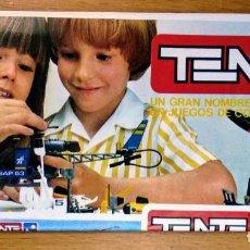 Juegos construcción - Tente: CATALOGO DESPLEGABLE TENTE EXIN 1983. Lote 160425566