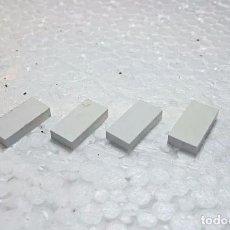 Juegos construcción - Tente: BLANCO BALDOSA 2X1 - TENTE (4 UNIDADES). Lote 213812442