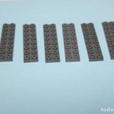 Jogos construção - Tente: TENTE LOTE DE 7 PLACAS COLOR GRIS 2X8 - PEDIDO MINIMO 5€. Lote 162504130