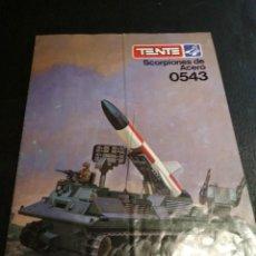 Juegos construcción - Tente: INSTRUCCIONES 0543 SCORPIONES DE ACERO - TENTE. Lote 165721974