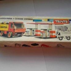 Juegos construcción - Tente: TENTE REF 0692 GASOLINERA Y CAMIÓN CISTERNA. Lote 168124220