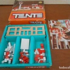 Juegos construcción - Tente: TENTE 410 EN SU CAJA ORIGINAL DE PRIMERA GENERACION CON 107 PIEZAS Y MANUAL - MUY RARA. Lote 168741196