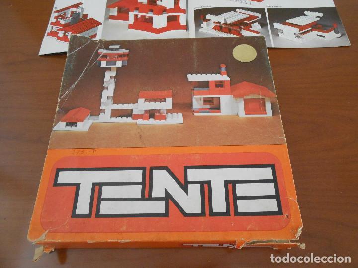 Juegos construcción - Tente: TENTE 410 EN SU CAJA ORIGINAL DE PRIMERA GENERACION CON 107 PIEZAS Y MANUAL - MUY RARA - Foto 2 - 168741196