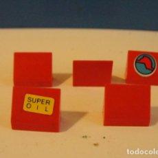 Juegos construcción - Tente: LOTE 5 CUÑAS ROJO TENTE. Lote 171018384