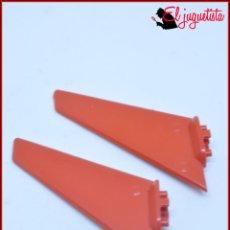 Juegos construcción - Tente: TENTE - ALA ALETA COLA HELICOPTERO ROJO X2. Lote 171160713