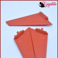 Juegos construcción - Tente: TENTE - ALA ALETA COLA HELICOPTERO ROJO X3. Lote 171160717