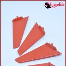 Juegos construcción - Tente: TENTE - ALA ALETA COLA HELICOPTERO ROJO X4. Lote 171160733
