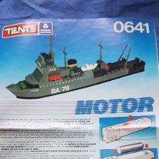 Juegos construcción - Tente: INSTRUCCIONES MONTAJE BARCO TENTE 0641. Lote 171607957
