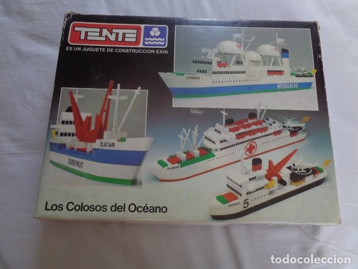 JUEGO DE TENTE - LOS COLOSOS DEL OCEANO - CON SUS TAPAS ORIGINALES Y LAS INSTRUCCIONES (Juguetes - Construcción - Tente)