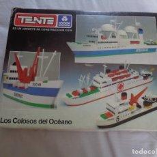 Juegos construcción - Tente: JUEGO DE TENTE - LOS COLOSOS DEL OCEANO - CON SUS TAPAS ORIGINALES Y LAS INSTRUCCIONES. Lote 174067404