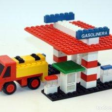 Juegos construcción - Tente: TENTE - REF. 0692 - GASOLINERA Y CAMION CISTERNA CAMPSA - 1977 - COMPLETO. Lote 175619309