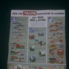 Juegos construcción - Tente: TENTE POR RUTA MAR Y ASTRO PUBLICIDAD. Lote 175944027