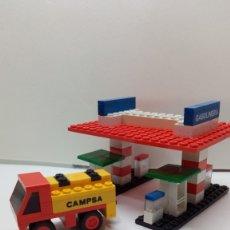 Juegos construcción - Tente: TENTE RUTA GASOLINERA Y CAMIÓN CISTERNA. Lote 175961115