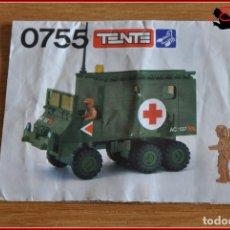 Juegos construcción - Tente: OLEK1 - TENTE - INSTRUCCIONES 0755 AMBULANCIA DE CAMPAÑA. Lote 176474819
