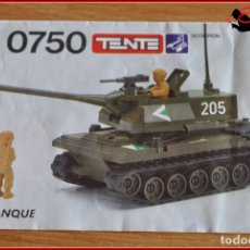 Juegos construcción - Tente: OLEK1 - TENTE - INSTRUCCIONES 0750 TANQUE. Lote 176475102