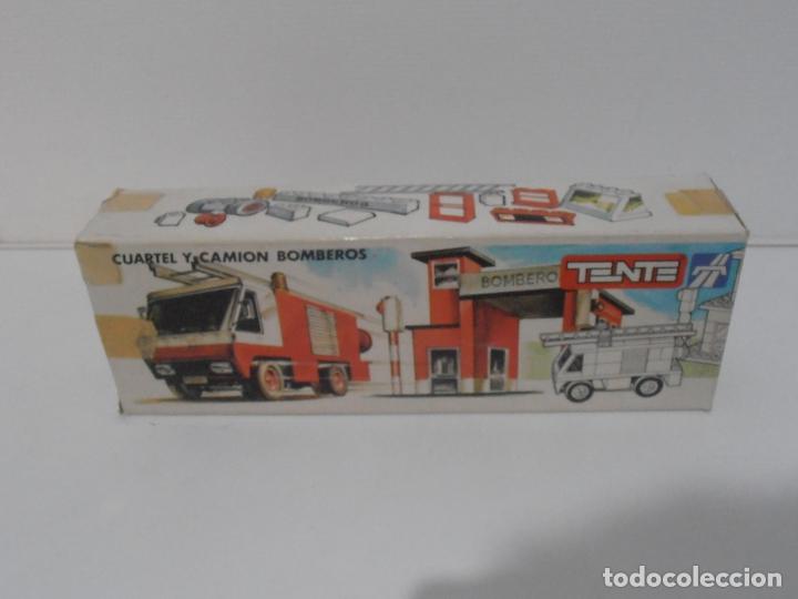 Juegos construcción - Tente: CUARTEL Y CAMION DE BOMBEROS, TENTE REF 0690, EXIN, COMPLETO CAJA E INSTRUCCIONES - Foto 6 - 177002160