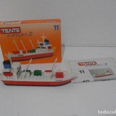 Juegos construcción - Tente: TENTE BARCO PORTACONTAINERS COMBI 2,11, RODAS, EXIN REF 0311, COMPLETO CAJA E INSTRUCCIONES. Lote 177003307