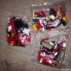 Juegos construcción - Tente: LOTE 3 BOLSAS TIPO LEGO TENTE. Lote 178928502