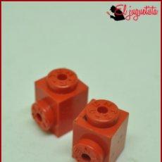 Juegos construcción - Tente: JUMIK - TENTE ROJO - 1X1 CONECTOR LATERAL X2. Lote 179226726