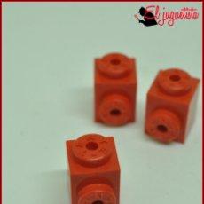 Juegos construcción - Tente: JUMIK - TENTE ROJO - 1X1 CONECTOR LATERAL X3. Lote 179226751