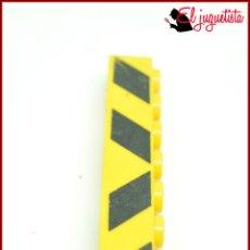 Juegos construcción - Tente: KAVIK - TENTE AMARILLO - 1X8 SERIGRAFIADO 0685. Lote 179946697