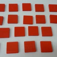 Juegos construcción - Tente: LOTE (2) PIEZAS ROJAS 2X2 LISAS Y PLANAS. Lote 180108617