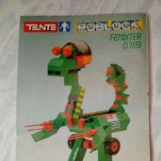 Juegos construcción - Tente: MANUAL DE INSTRUCCIONES - TENTE ROBLOCK - FENIXTER 0783 1987. Lote 180474785