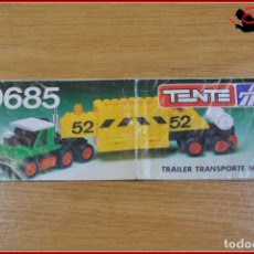 Juegos construcción - Tente: KAVIK - INSTRUCCIONES - 0685 TRAILER TRANSPORTE MINERALES. Lote 182353708