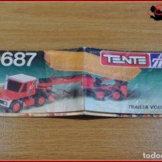 Juegos construcción - Tente: KAVIK - INSTRUCCIONES - 0687 TRAILER VOLQUETE. Lote 182354453