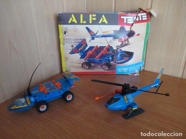 TENTE ALFA REF. 0363 - VEHICULO Y HELICOPTERO DE POLICIA (Juguetes - Construcción - Tente)