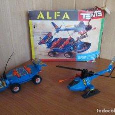 Juegos construcción - Tente: TENTE ALFA REF. 0363 - VEHICULO Y HELICOPTERO DE POLICIA. Lote 187630913