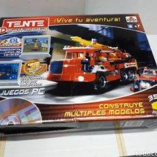 Juegos construcción - Tente: TENTE MULTIMEDIA 12974 CAMIÓN DE BOMBEROS DE BORRAS. Lote 190865706
