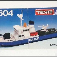 Juegos construcción - Tente: TENTE INSTRUCCIONES BARCO POLICIA MAR 0604. Lote 192440818