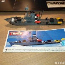 Juegos construcción - Tente: TENTE EXIN MAR OCEANIS. DESTRUCTOR MERRILL (AQUILES). 311 (0613). HASBRO. COMPLETO. INSTRUCCIONES. Lote 194352526