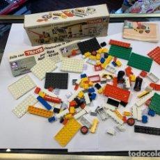 Juegos construcción - Tente: TENTE CAJA ESTACIÓN DE ENGRASE Y CAMIÓN GRÚA REF. 0691 (G). Lote 195280370
