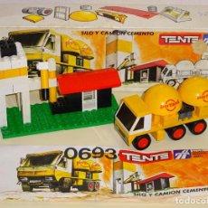 Juegos construcción - Tente: JUEGO JUGUETE TENTE EXIN. REFERENCIA 0693 SERIE RUTA. SILO Y CAMIÓN CEMENTO PORTLAND. CAJA. 130GR. Lote 198217863