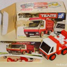 Juegos construcción - Tente: JUEGO JUGUETE TENTE EXIN. REFERENCIA 0678 SERIE RUTA. CAMIÓN DE REPARTO COCA COLA. CON CAJA. 60GR. Lote 198218477