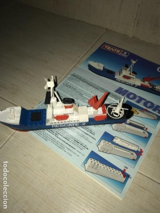 Juegos construcción - Tente: Tente motor 0640 buque recate Oslo completo con instrucciones sin caja ORIGINAL AÑOS 80 - Foto 12 - 199864101