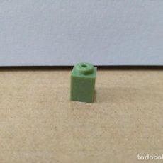 Juegos construcción - Tente: TENTE BLOQUE LISO 1X1 VERDE TITANIUM REF TITANIUM. Lote 201183008