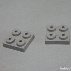 Juegos construcción - Tente: TENTE PLACA 2X2 GRIS CLARO DOS UNIDADES. Lote 202851385