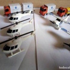 Juegos construcción - Tente: EXIN TENTE MICRO/MICRO TENTE LOTE DE 12 CAMIONES, HELICÓPTEROS Y AVIONETAS.. Lote 203184910