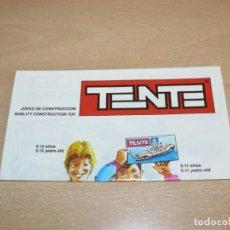 Juegos construcción - Tente: 24- CATALOGO FOLLETO EXIN TENTE DESPLEGABLE ALFA TITANIUM MAR MICRO POCKET ORIGINAL AÑO 1990. Lote 206821601