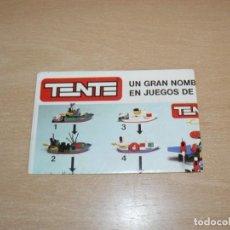 Juegos construcción - Tente: 25- CATALOGO FOLLETO EXIN TENTE DESPLEGABLE MAR RUTA ASTRO MULTIPLE ORIGINAL AÑO 1980. Lote 206822051