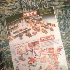 Juegos construcción - Tente: CATALOGO TENTE -VER FOTOS. Lote 210105232