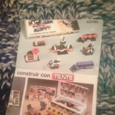 Juegos construcción - Tente: CATALOGO TENTE -VER FOTOS. Lote 210107293