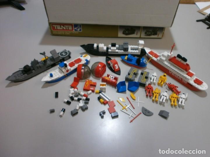 BUEN LOTE DE TENTE ANTIGUO BARCOS ROBOTS Y ASTRO (Juguetes - Construcción - Tente)