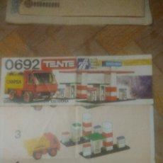 Juegos construcción - Tente: TENTE 0692. INSTRUCCIONES.CAMIÓN DE CAMPSA. 1977. VER FOTOS.. Lote 212943763
